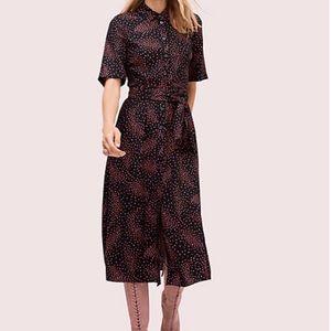 Kate Spade Meadows Smocked Back Shirtdress Size 0